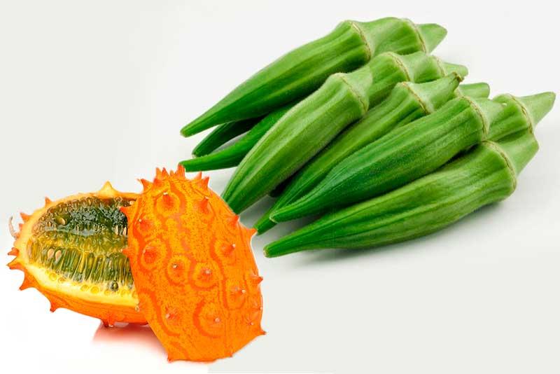 Экзотические овощи  на огороде